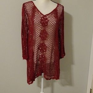 Forever 21 crochet tunic